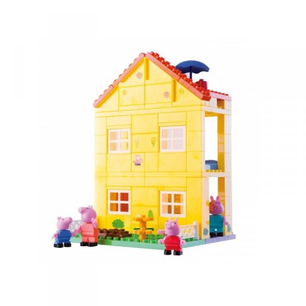 BIG Klocki Świnka Peppa dom willa 107 elem.z figurkami