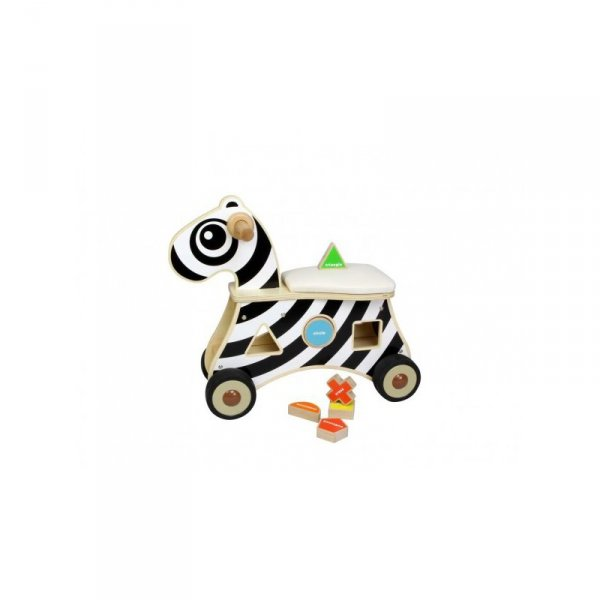 MASTERKIDZ Jeździk Sorter Kształtów Zebra