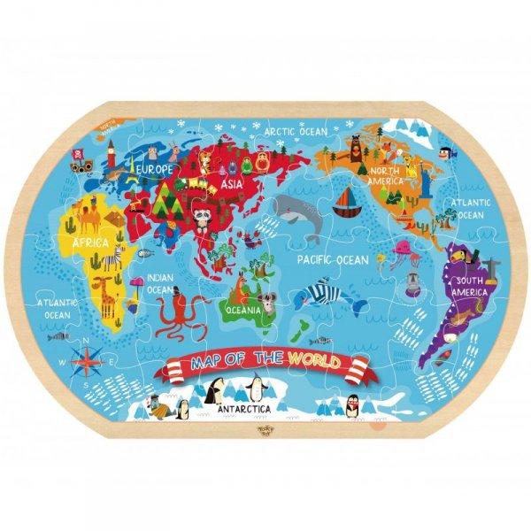 TOOKY TOY Puzzle Mapa Świata