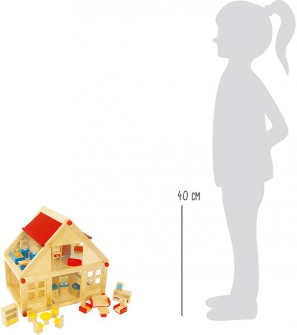 SMALL FOOT Drewniany Domek do Budowania dla dzieci - układanka przybijanka