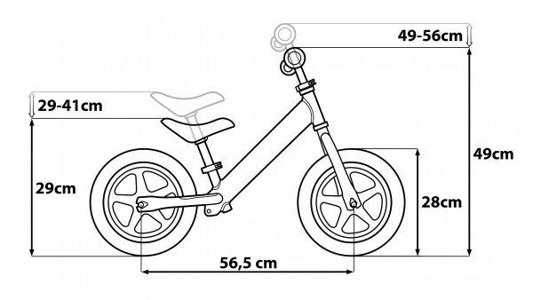 SEVEN Rowerek Biegowy Metalowy Kubuś