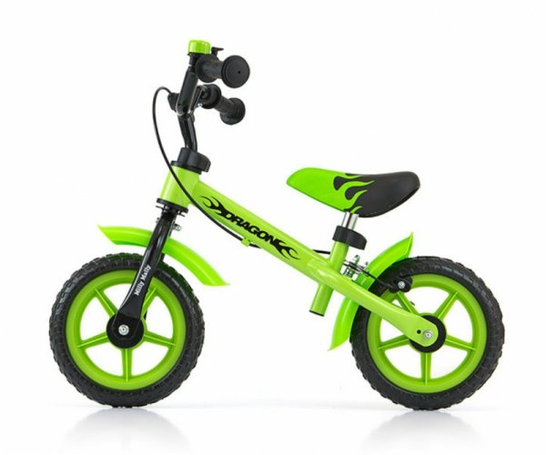 Rowerek biegowy Dragon z hamulcem green