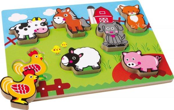 SMALL FOOT Puzzle Drewniane - Zwierzęta Hodowlane