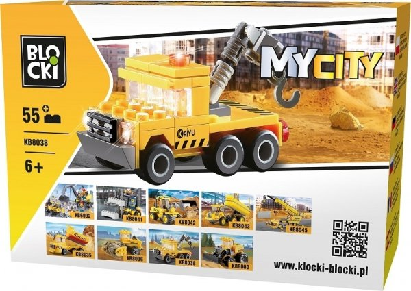 Klocki Blocki MyCity Dźwig 55el.