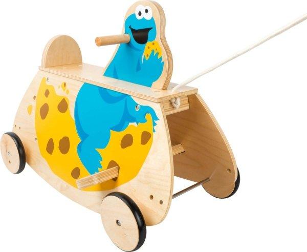 SMALL FOOT SESAME STREET Cookie Swinging See-Saw with Wheels - bujak z kółkami