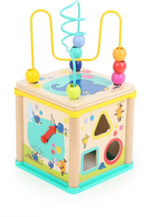 SMALL FOOT Cube de motricité with the elephant - kostka interaktywna
