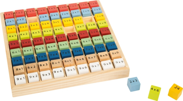 "SMALL FOOT Colourful multiplication table ""Educate""- Drewniana Kolorowa Tabliczka Mnożenia"