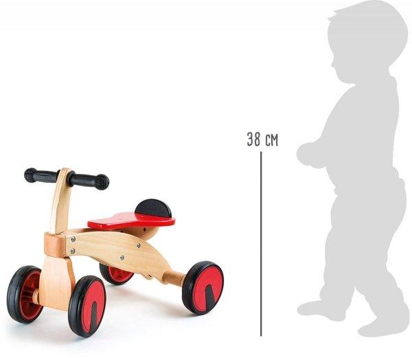 SMALL FOOT Drewniany Rowerek Czterokołowy