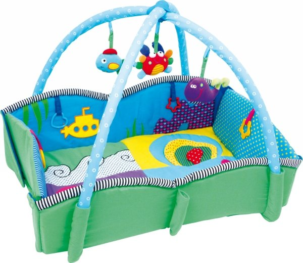 "SMALL FOOT Baby Blanket ""Pulpino"" - mata edukacyjna dla niemowląt"
