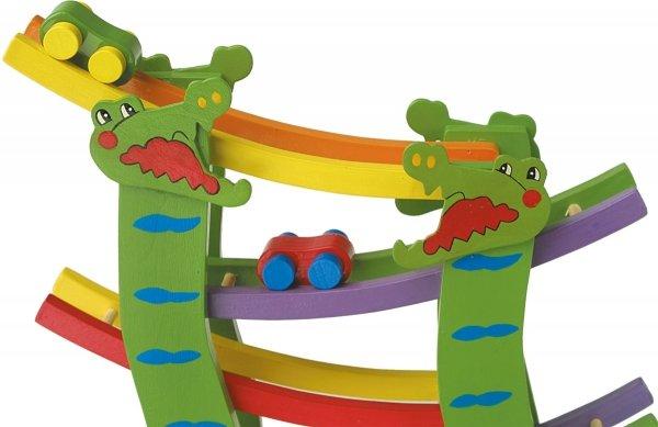 SMALL FOOT Tor Wyścigowy dla Dzieci - Krokodyl