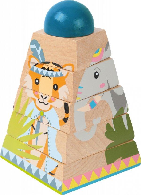 """SMALL FOOT Cube Puzzle Tower """"Jungle"""" - obracające puzzle w kształcie wieży (dżungla)"""