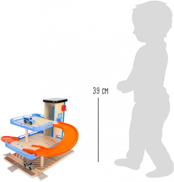 SMALL FOOT Piętrowy Parking Samochodowy dla Dzieci