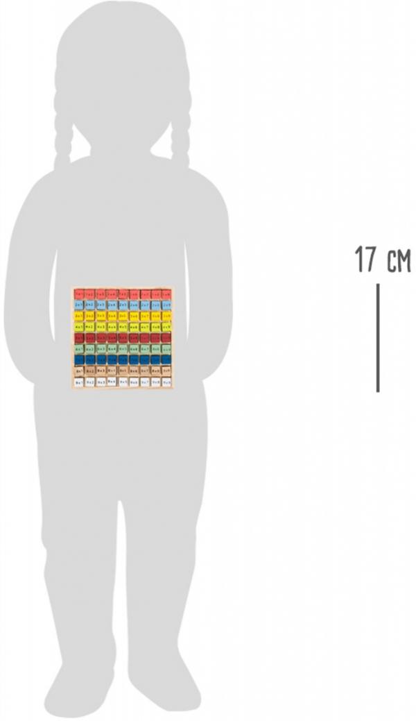 "SMALL FOOT Colourful multiplication table ""Educate""- Drewniana Kolorowa Tabliczka Mnożenia"