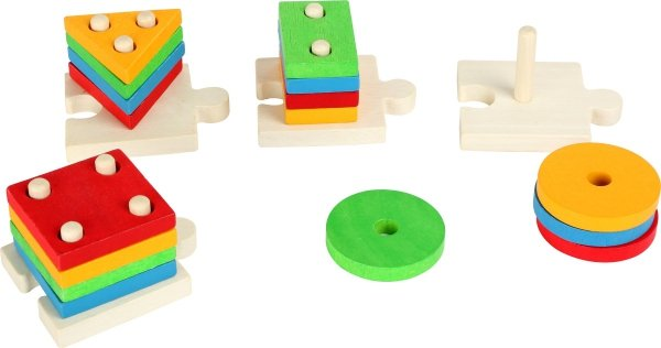 SMALL FOOT Puzzle Drewniane Klocki