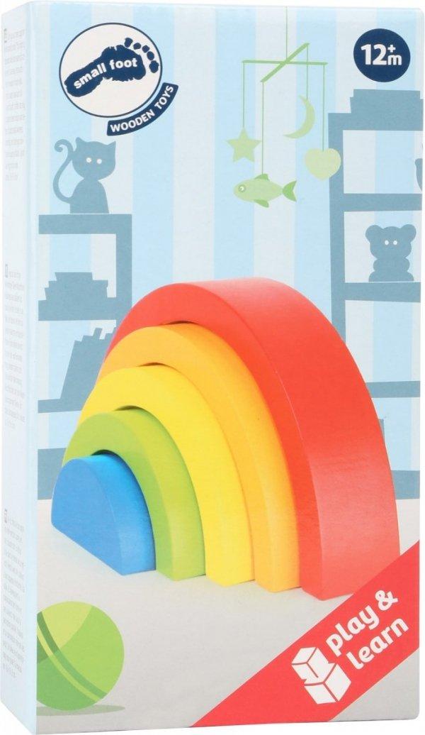 SMALL FOOT Wooden Building Blocks Rainbow - małe klocki drewniane (tęcza)