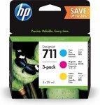 Tusz HP 711 3x29ml 3pk CMY do T120 / T520 P2V32A