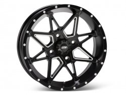 ITP TORNADO 1421952727B 14x7 4/156 4+3 Matte Black with mil1ed