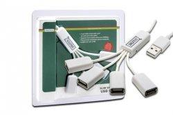 Digitus HUB/Koncentrator 4-portowy Spider USB 2.0 SuperSpeed, pasywny, biały