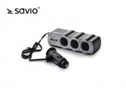 Elmak Rozdzielacz zapalniczki z gniazdem USB SAVIO SA-023