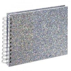 Hama Album spiralny Glam 24x17cm, 50 białych stron, srebrny