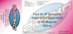 Tusz zamiennik Yvesso nr 90 do HP Designjet 4000/4020/4500/4520 (400 ml) Magenta C5063A