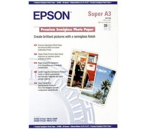 Papier Epson Photo Premium Semigloss A3+ (20 ark) 250 g/m2 S041328