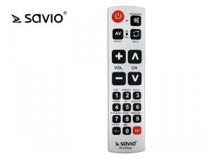 Elmak SAVIO RC-04 EASY Pilot uniwersalny do TV, duże przyciski