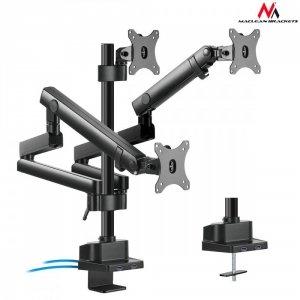 Maclean Uchwyt biurkowy na 3 monitory MC-811