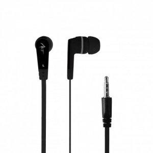 ART Słuchawki douszne z mikrofonem S2B czarne smartfon/Mp3/tablet