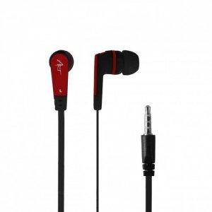ART Słuchawki douszne z mikrofonem S2C czarno-czerwone smartphone/   Mp3/tablet