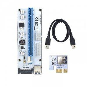 Qoltec Riser PCi-E 1x-16x | USB 3.0 | uniwersalny | 008S | SATA/MOLEX/PCI-E