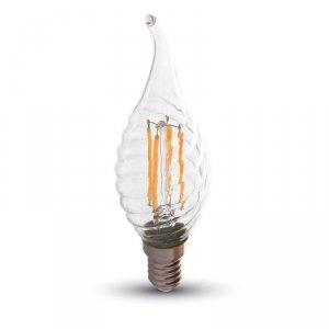 V-tac Żarówka LED VT-1995 E14 35x121mm 4Wat 2700K 400lm Filament Glass