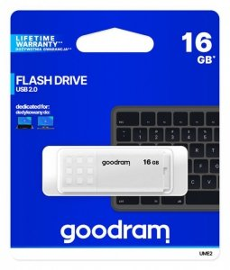 GOODRAM Pendrive UME2 16GB USB 2.0 Biały