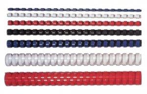 Fellowes Grzbiet plastikowy okrągły 10mm bialy, 100 sztuk