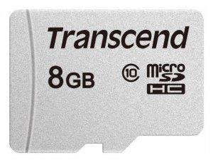 Transcend Karta pamięci microSDHC 8GB GUSD 300S CL10 TS8GUSD300S