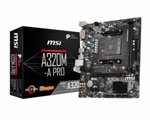 MSI Płyta główna A320M-A PRO AM4 2DDR4 DVI/HDMI mATX