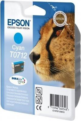 Wkład cyan do Epson D78/92/120/DX4000/4050/5000/5050/6000/6050/7000F/7400/8400/ 9400; T0712