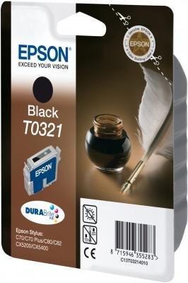 Wkład czarny do Epson Stylus C70/C80/C82 T0321