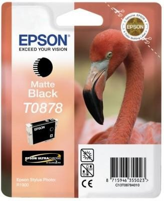Tusz (Ink) T0878 matte black do Epson Stylus Photo R1900