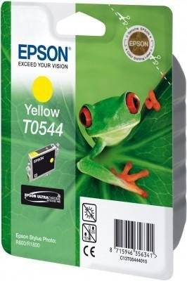 Tusz do Epson Stylus Photo R800/R1800 Yellow Ink Cartridge 400str. T0544