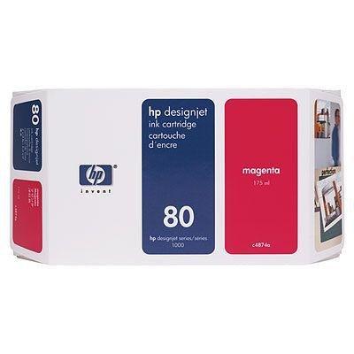 Tusz (Ink) HP 80 magenta (350ml) do DnJ 1050C/1050C+/1055CM/1055CM+ C4847A