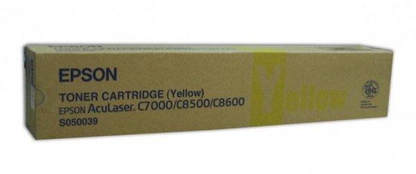 Toner yellow do Epson AcuLaser C8500/8600 wyd. 6000 stron A4 przy 5% pokryciu
