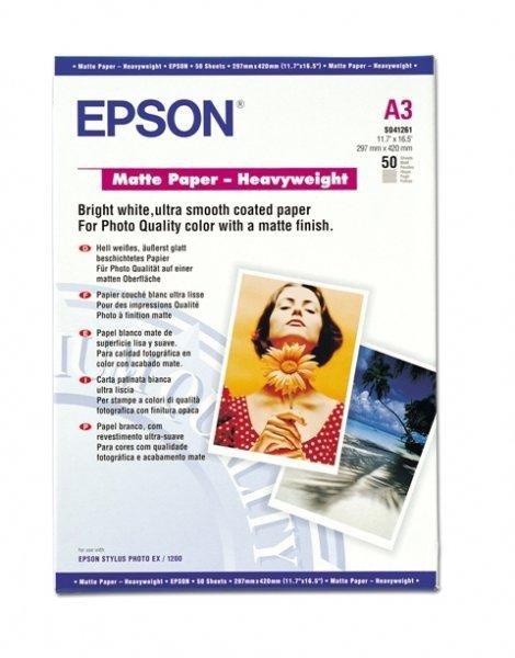 Papier Epson Matowy A3 Heavy Weight (50 ark.), 167g/m2 S041261