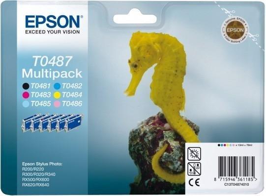 Sześciopack (Kolory i czarny) do Epson Stylus Photo R300/R220/R340/RX500 T0487