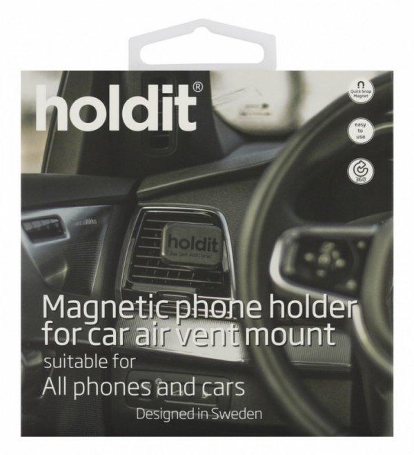 Holdit Uchwyt samochodowy Vent Square magnetic + płytka i naklejka