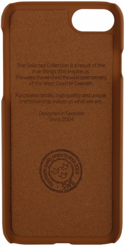 Holdit Selected etui Kasa skóra/zamsz magnetic brązowe iPhone 7 8