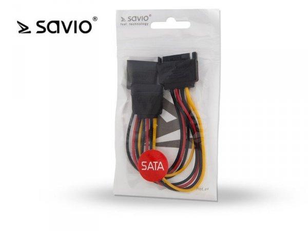 Elmak SAVIO AK-17 Kabel zasilający/ adapter SATA 15pin M - 2xSATA 15pin F