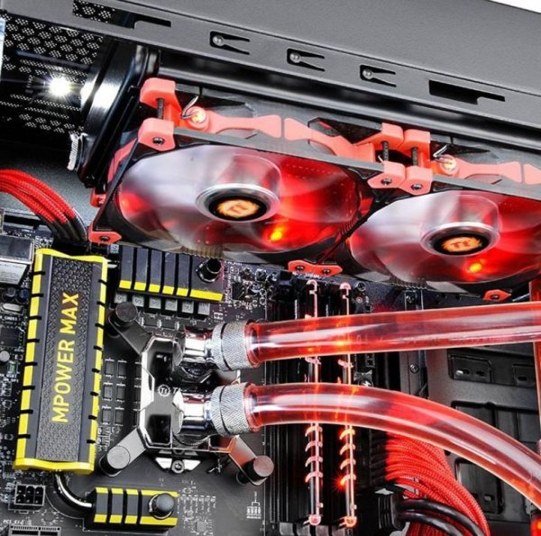 """Thermaltake Pacific W1 (G 1/4"""", miedź) blok wodny CPU - Silver Black"""