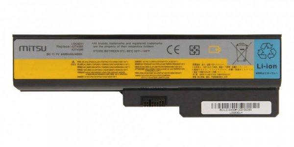 Mitsu Bateria do Lenovo IdeaPad G450, G530, G550 4400 mAh (48 Wh) 10.8 - 11.1 Volt