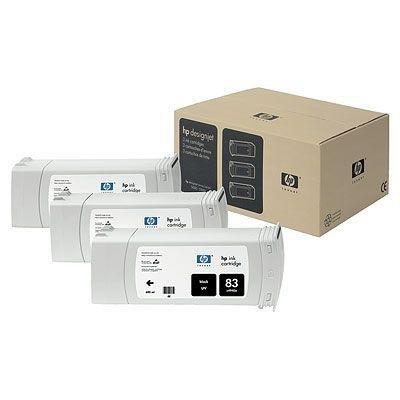 Tusz (Ink) HP 83 black (680ml) system UV do DnJ 5000/5000ps/5500/5500ps - Trzypak [C4940A] C5072A